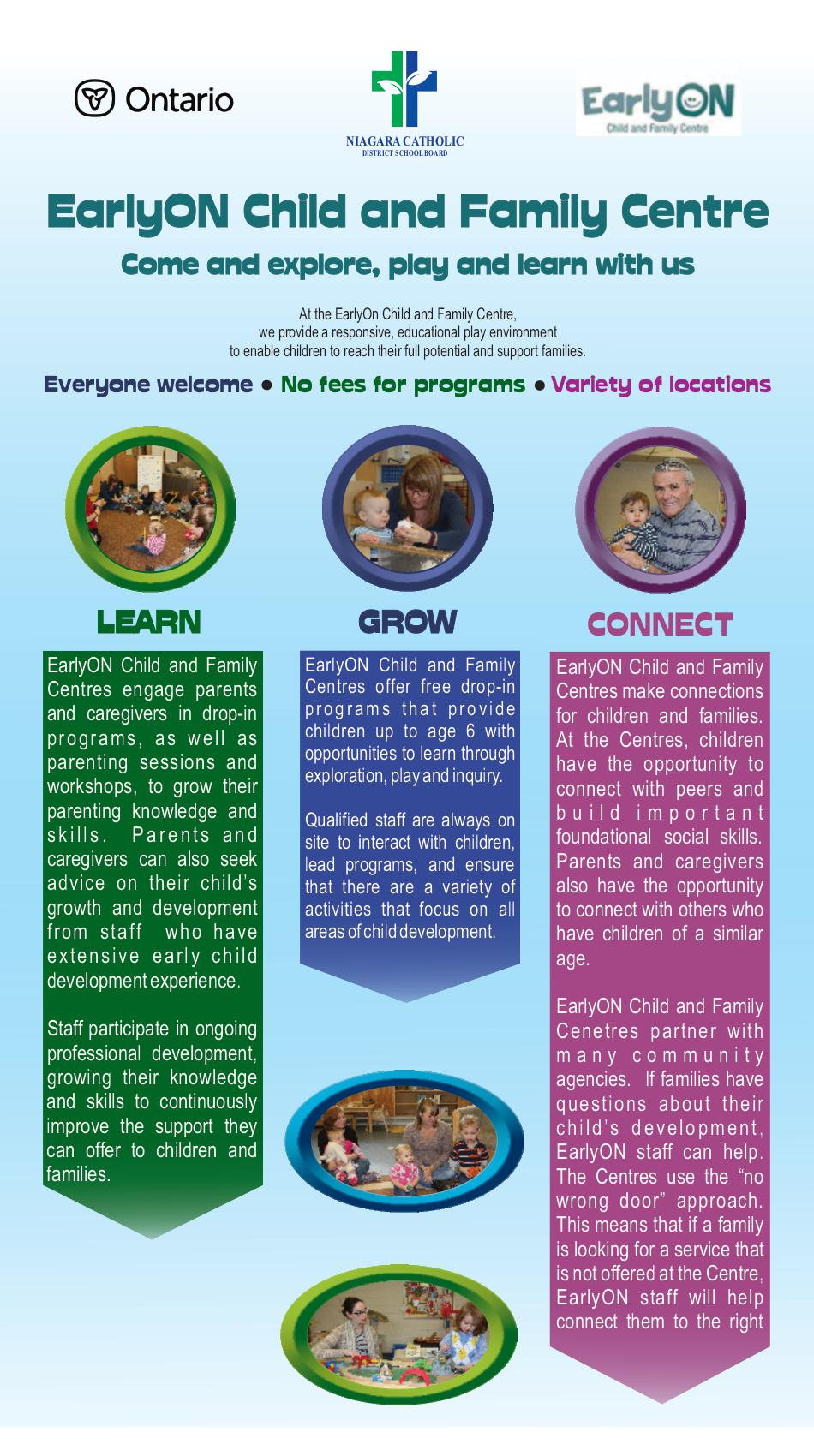 Learn Grow Connect with EarlyON