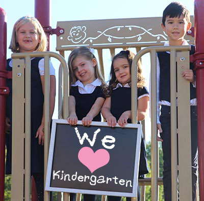 Image showing Kindergarten students saying they love Kindergarten