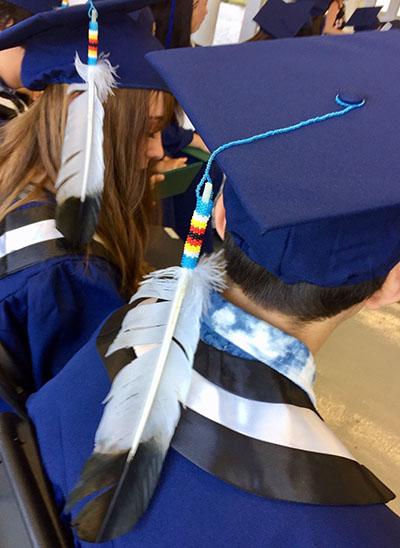 Slide showing Indigenous students at graduation