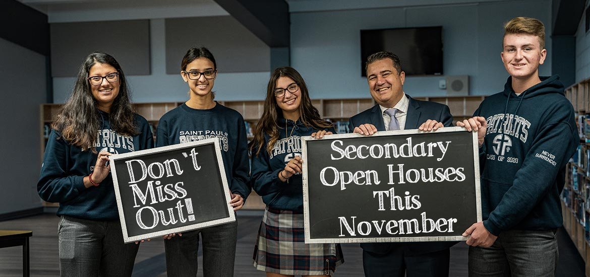Secondary Open Houses this November